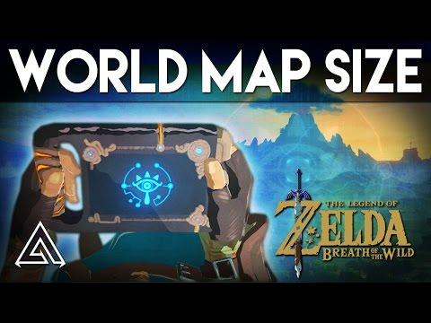 Qual é o tamanho do mapa de The Legend of Zelda: Breath of the Wild?