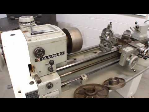 hqdefault online auction clausing model 5914 engine lathe youtube  at panicattacktreatment.co