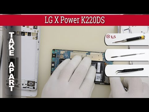 How to disassemble 📱 LG X Power K220 Take apart Tutorial