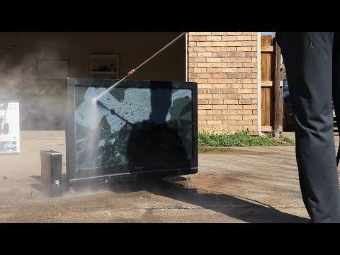 Pressure Washing a Flat Screen TV