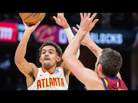 Rookie Trae Young 35 Points Deep 3s vs Cavs! 2018-19 NBA Season
