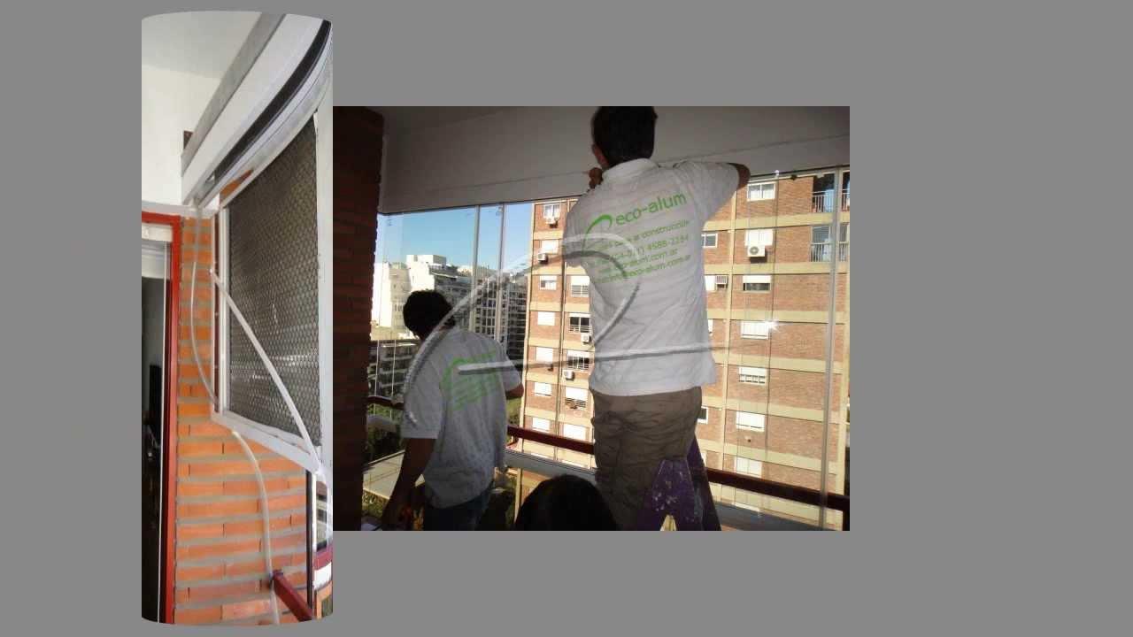 Cerramiento de balc n con cristales templados transparente for Como cerrar un balcon
