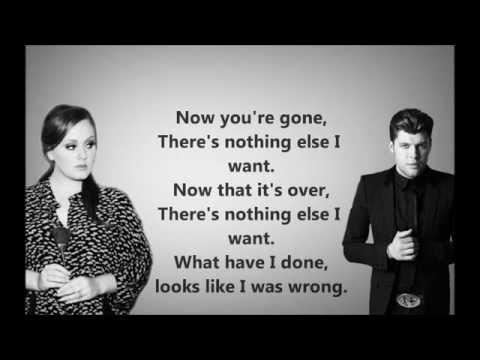 Adele feat Daniel Merriwether  Water and a Flame  Lyrics