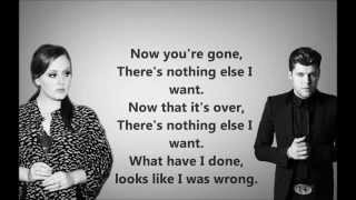 Adele feat. Daniel Merriwether - Water and a Flame  Lyrics