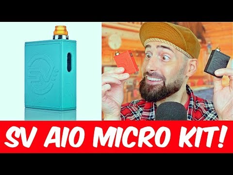 SUPER TINY All In One Vape Starter Kit! The SV AIO Micro By SMOKJOY!