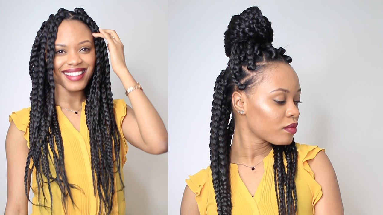 How To Big Braids In 2 Hours Protective Style Youtube