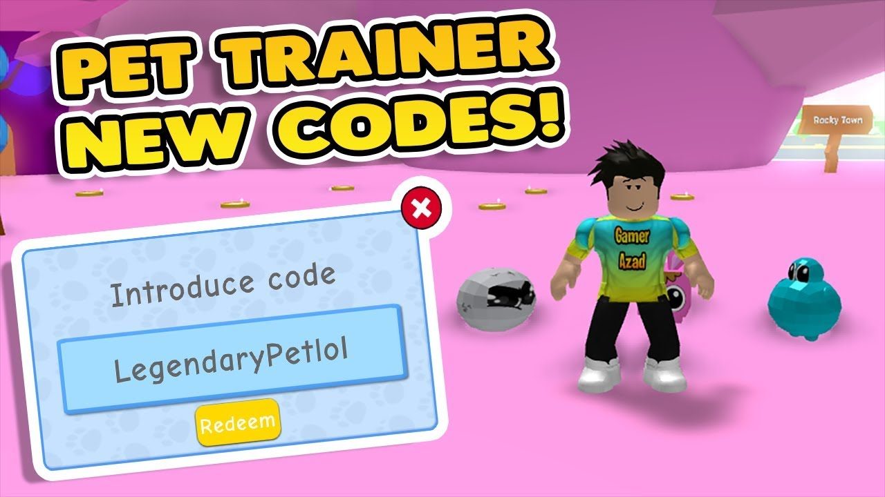 ROBLOX PET TRAINER NEW CODES😱