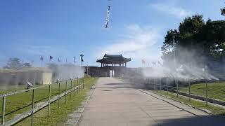 [안개핀조경]홍성역사인물축제 쿨링포그 시공
