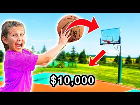 Make the SHOT, I'll buy you ANYTHING challenge! Mimi Locks basketball GAME