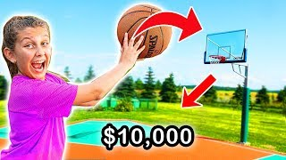 Make the SHOT, I'll buy you ANYTHING challenge! Mimi Locks basketball GAME
