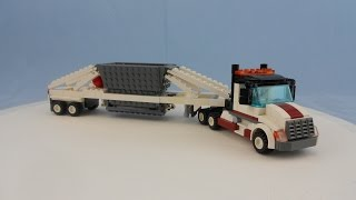 Custom LEGO Semi With Functional Belly Dump Trailer