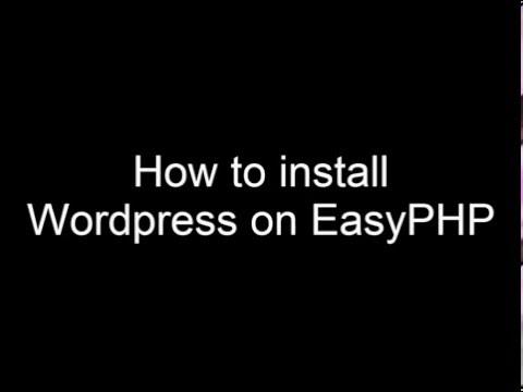 WordPress easyphp