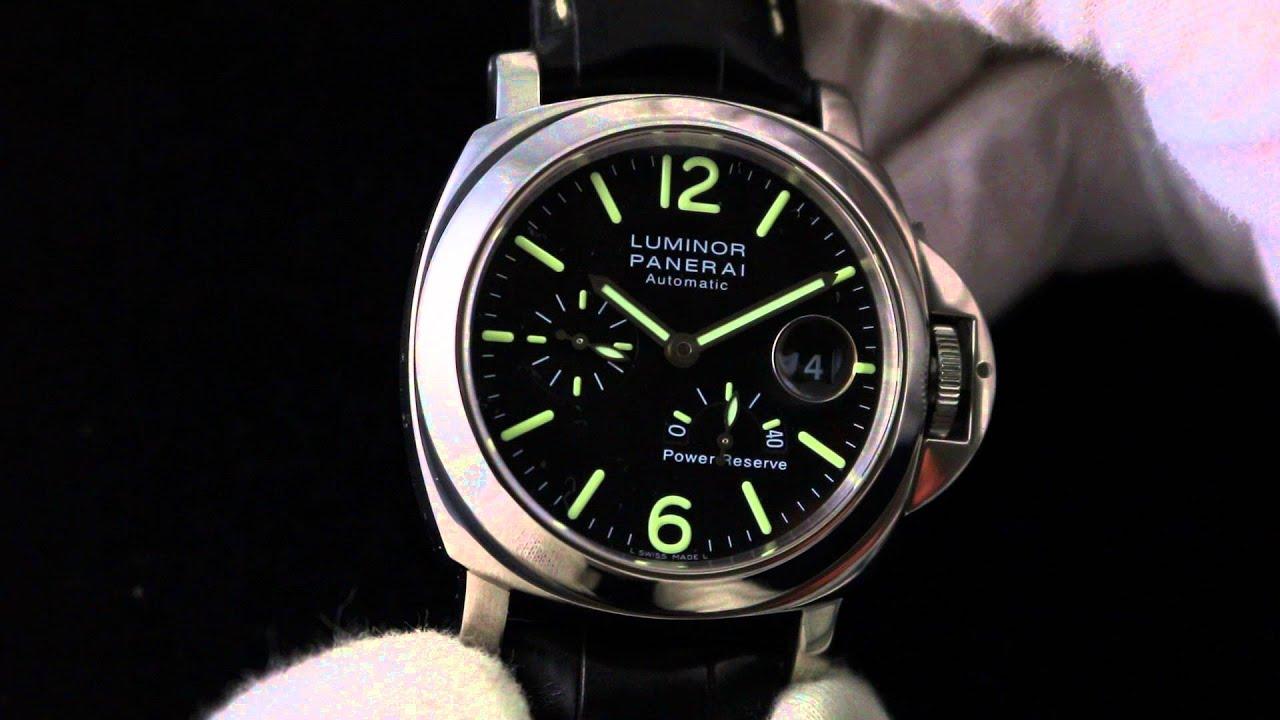 4c7aff7b43c2 Panerai Luminor Power Reserve Acciaio PAM 090 Luxury Watch Review ...