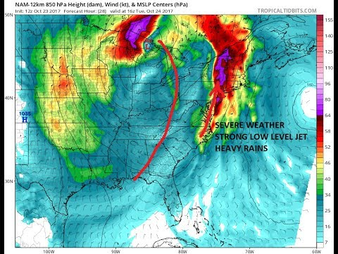 Severe Weather Threat Northeast to Northern Middle Atlantic States Tuesday Pattern Change Continu