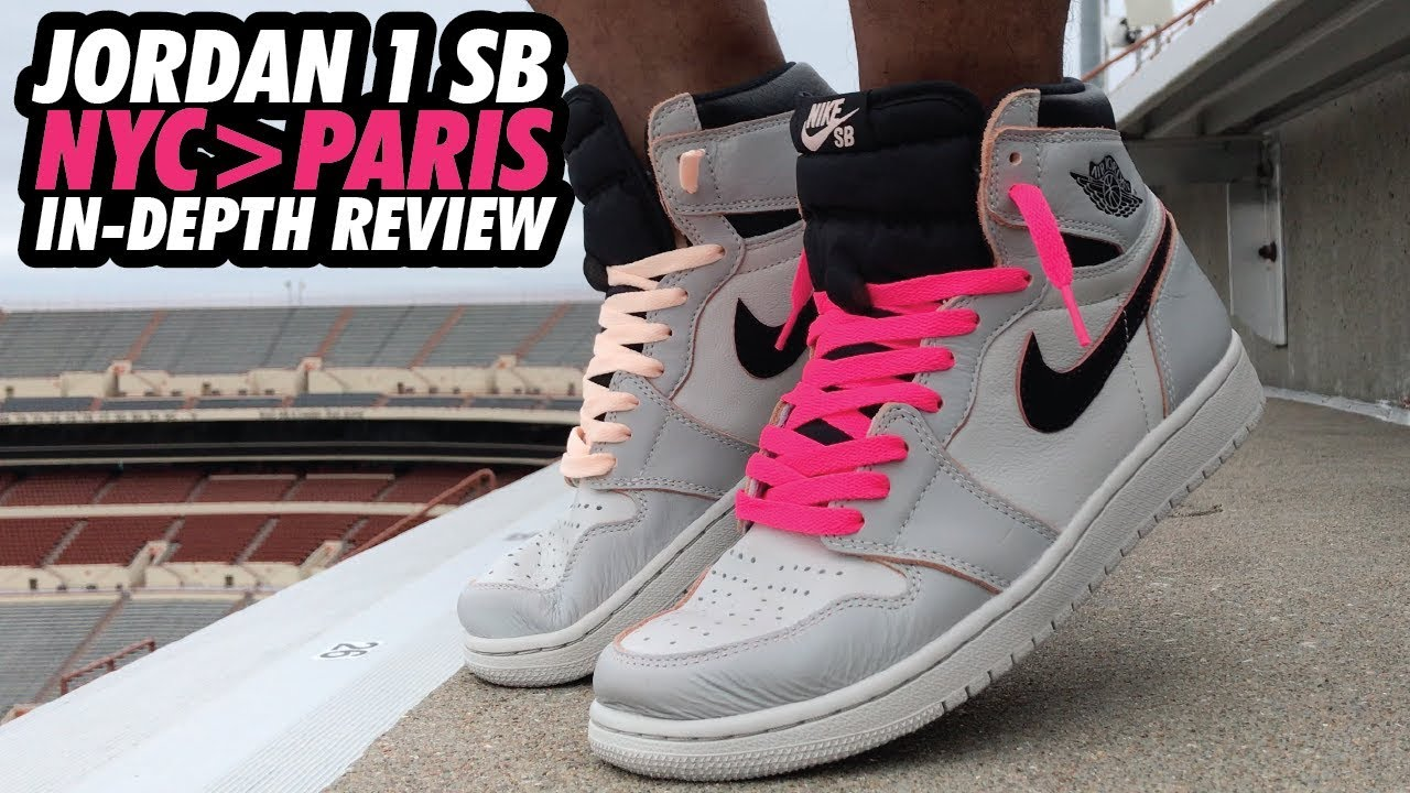 hot product lowest discount brand new NIKE SB JORDAN 1 LIGHT BONE PINK / NYC-PARIS ON-FEET REVIEW!