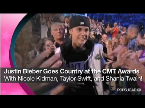 Justin Bieber Goes Country at the CMT Music Awards