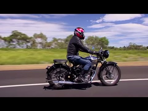 This guy built his own BSA motorbike