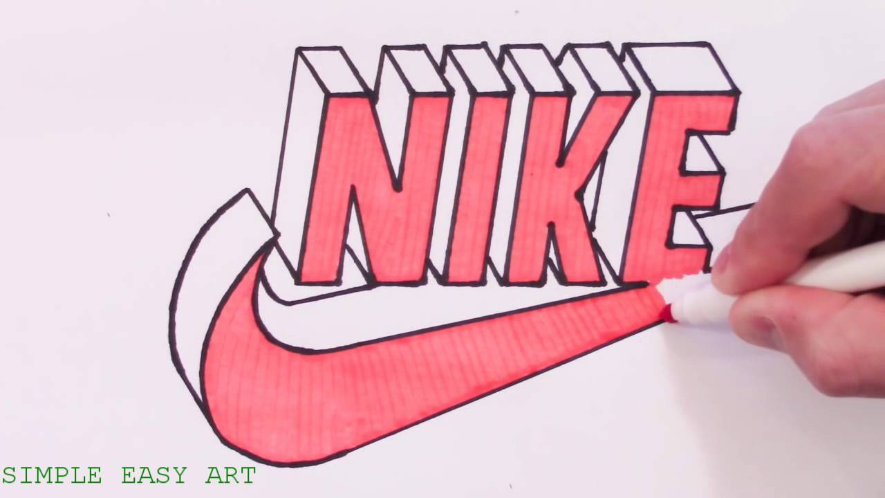 how to draw nike logo in 3d best youtube