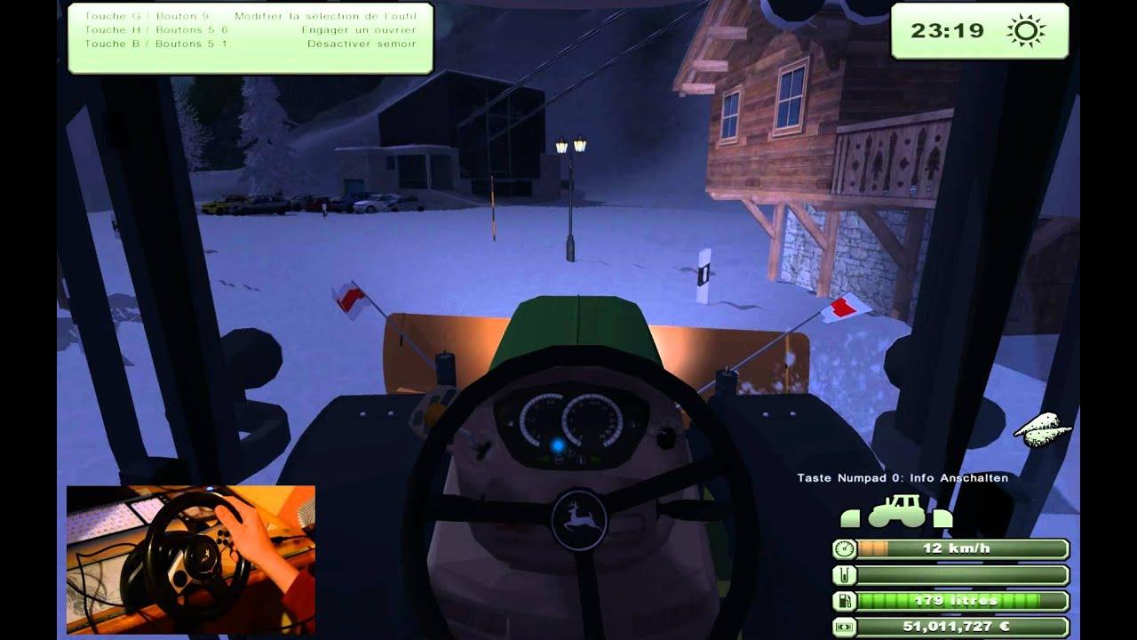 farming simulator 2013 gameplay avec un volant wheel youtube. Black Bedroom Furniture Sets. Home Design Ideas