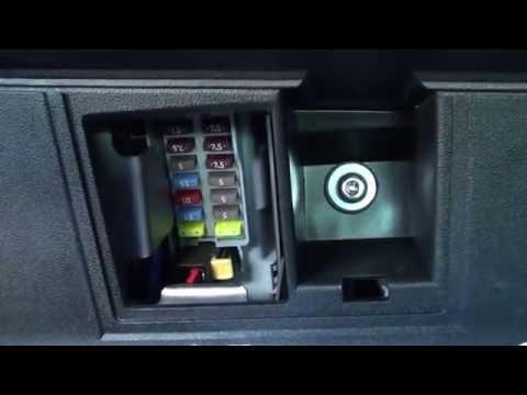 fiat 500 interior fuse box location - youtube  youtube