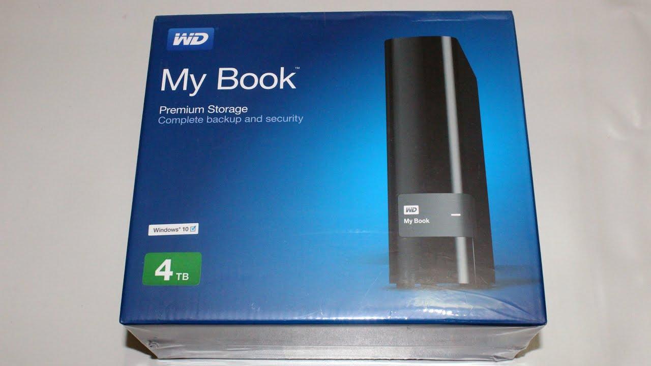 Western Digital My Book 4TB External Hard Disk Unboxing - YouTube