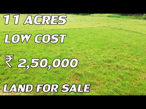 11 ACRES LAND FOR SALE | LOW-COST PROPERTY FOR SALE | COST PER ACRE IS ₹2,50,000 | PROPERTY TV LANDS