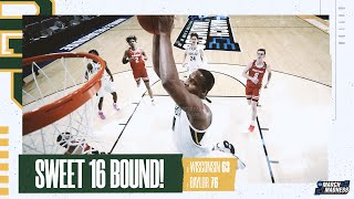 Wisconsin vs. Baylor - Second Round NCAA tournament extended highlights