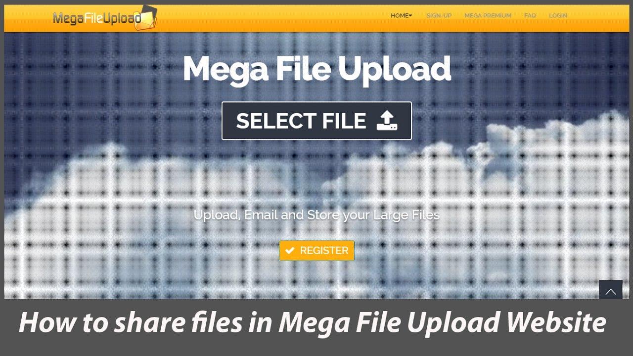 How to share files in Mega File Upload Website