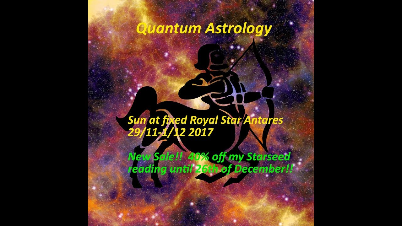 Sun at Royal fixed star Antares 29/11-1/12 2017