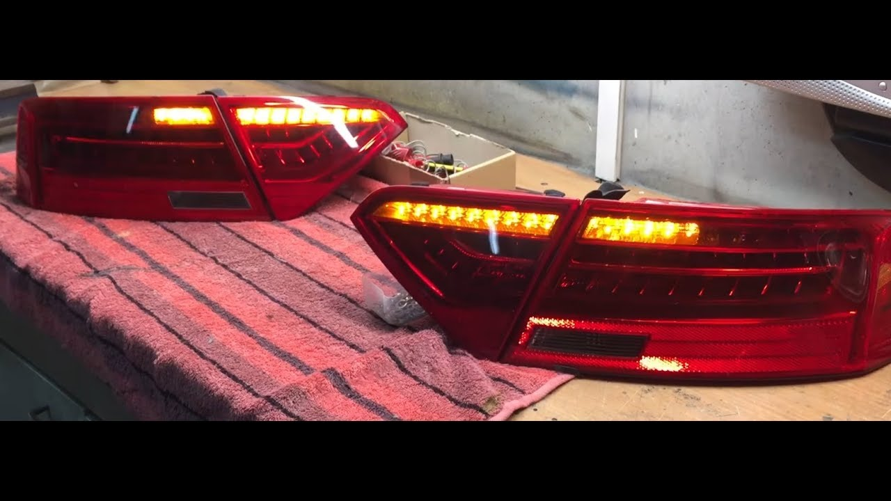 audi a5 dynamischer blinker dynamic blinker taillights. Black Bedroom Furniture Sets. Home Design Ideas