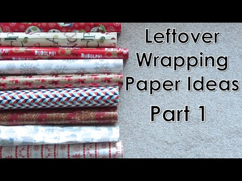 Crafts for Leftover Christmas Wrapping Paper (Part 1) | D.I.Y.