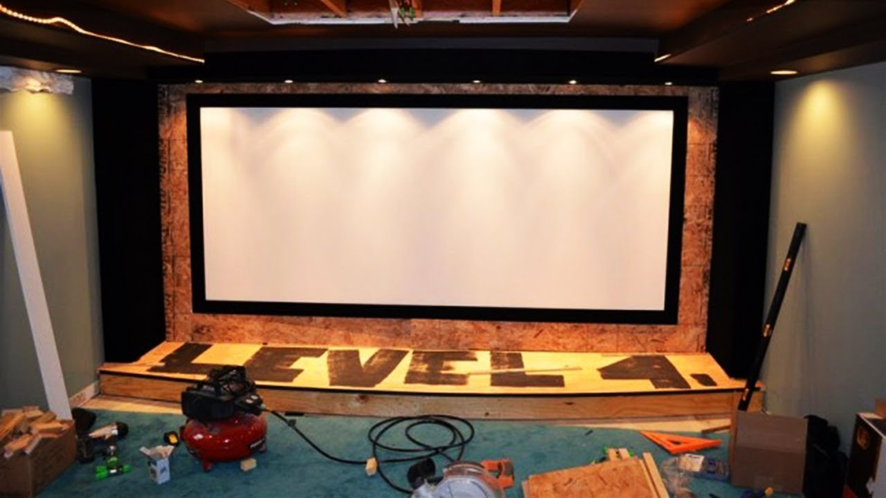 Garage Man Cave Projector : It took him 2 years to build the man cave of his dreamsu2026 youtube