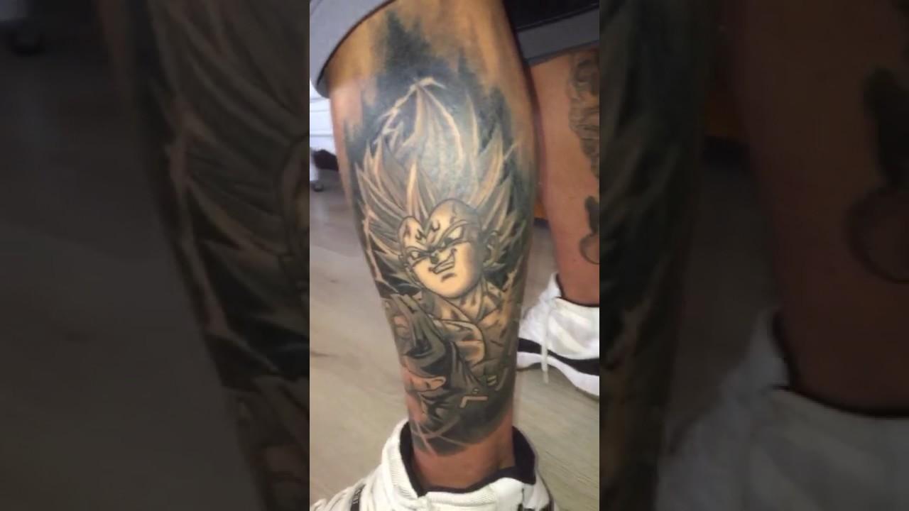 My Majin Vegeta Tattoo By Laura Underskin Paris France Youtube