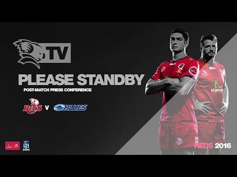 Media Conference: St.George Queensland Reds v Blues