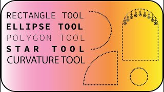 adobe illustrator rectangle tool,ellipse tool, star tool, curvature tool and how to dotted line Hind
