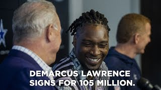 DeMarcus Lawrence speaks on signing for $105 Million to the Dallas Cowboys