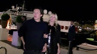 EXCLUSIVE - German Top Model Heidi Klum and her boyfriend Vito attend the Paul Allen Party in Cannes