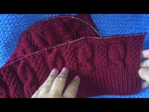Вязание кардигана. Начало.