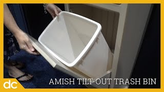 Amish Tilt Out Trash Bin Cabinet with Drawer (ID: 2446)