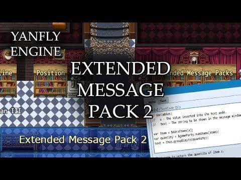 Extended Message Pack 2 (YEP) - Yanfly moe Wiki