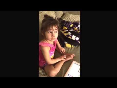 My 4 year old is searching for someone's blog, watch her meltdown