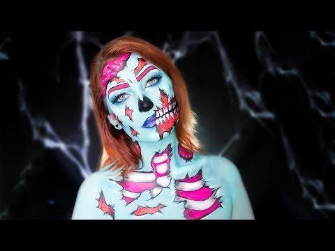 Zumbi pop art 🍭   Halloween   Pintura corporal thumbnail