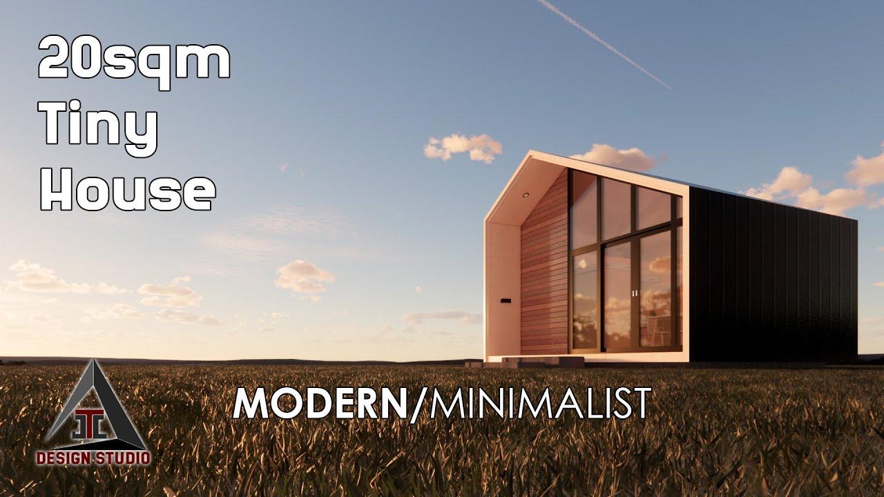 Modern Minimalist Tiny House Design 20sqm Loft House Youtube