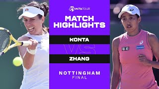 Johanna Konta vs. Shuai Zhang   2021 Nottingham Final   WTA Match Highlights