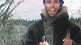 A photo collage of events in Chris McCandless' life mixed to an aco...