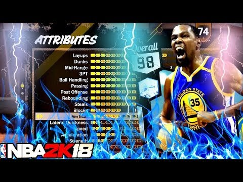 NBA 2K18 BEST SHOT CREATOR BUILD 6-10 KEVIN DURANT BUILD ...