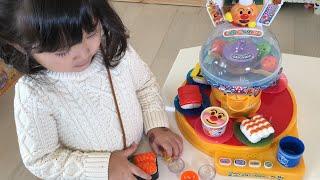 アンパンマン カプセルくるくる おすし屋さんごっこ!おもちゃ Anpanman Sushi Shop Toy
