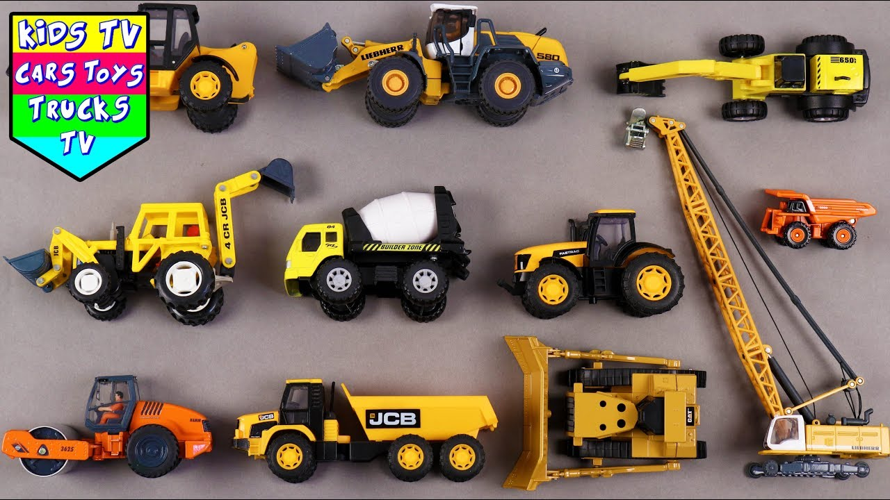 learn construction vehicles for kids children babies toddlers