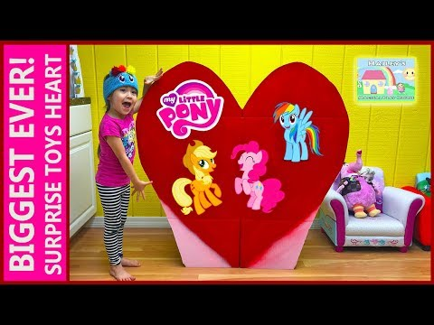 World's Biggest Surprise Toys Heart Ever! My Little Pony Surprises in this Toy Review Kids Video