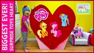 biggest surprise toys heart ever mlp giant my little pony toy surprise eggs cute girl toysreview